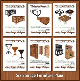 Six Storage Furniture Plans Woodworking Plansclub From Ashby