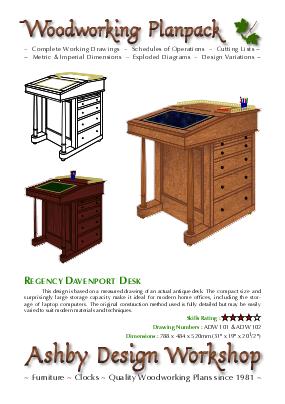 Davenport Desk cover