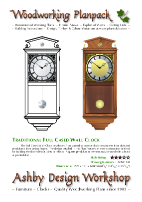 Small Vienna Regulator Clock Case Plans Woodworking Plansclub From