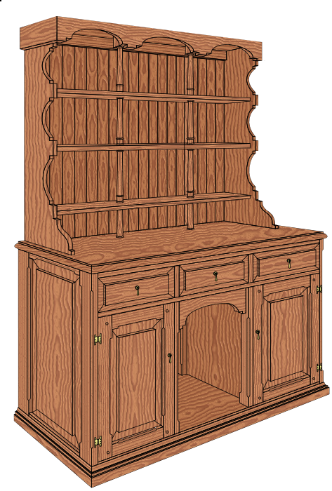 Welsh Kitchen Dresser Plans