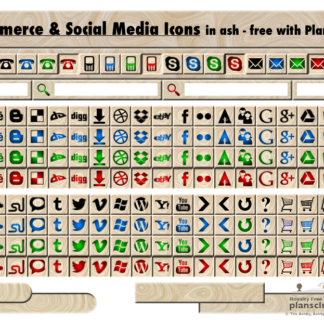 FREE Wooden Web & Social Media Icons